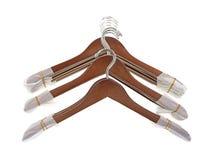 Nieuwe kleerhangers Stock Foto's
