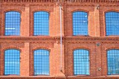 Nieuwe kracht gegeven baksteengebouwen royalty-vrije stock fotografie