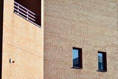 Nieuwe kracht gegeven baksteengebouwen royalty-vrije stock foto