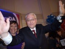 Nieuwe Kroatische voorzitter Ivo Josipovic Stock Fotografie