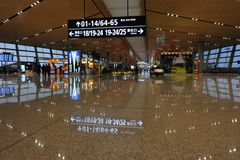 Nieuwe Kunming Luchthaven, Poorten Royalty-vrije Stock Afbeelding