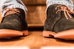 Nieuwe laarzen stock foto