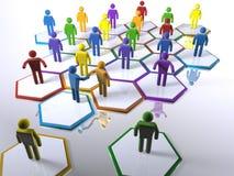 Nieuwe leden die in een divers team intergrating Stock Afbeelding
