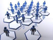 Nieuwe leden die in het team intergrating Stock Afbeelding