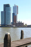 Nieuwe Maas and Kop van Zuid, Rotterdam, Holland Royalty Free Stock Photography