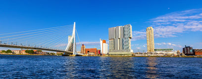 The Nieuwe Maas river in Rotterdam - Netherlands Royalty Free Stock Images