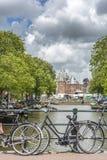 Nieuwe markt in Amsterdam, Nederland Stock Foto
