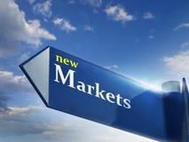 Nieuwe markten Stock Foto's