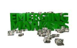 Nieuwe markten royalty-vrije illustratie