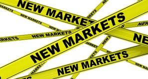 Nieuwe Markten Gele waarschuwingsbanden vector illustratie