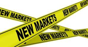 Nieuwe Markten Gele waarschuwingsbanden stock illustratie