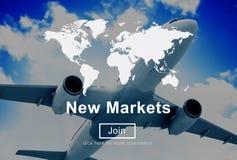 Nieuwe Marktenhandel die Globaal Bedrijfs Marketing Concept verkopen Royalty-vrije Stock Foto's