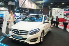 Nieuwe Mercedes-Benz-B-Klasse in Singapore Motorshow 2015 Stock Afbeeldingen