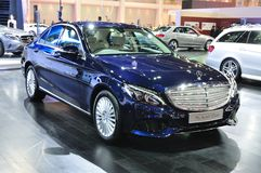 Nieuwe Mercedes BENZ-c-klasse op vertoning Royalty-vrije Stock Foto's