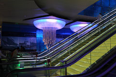Nieuwe Metro Post in Doubai Royalty-vrije Stock Foto