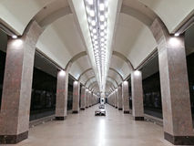 Nieuwe Metro post Gorkovskaya Nizhny Novgorod Stock Foto