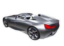 Nieuwe model snelle geïsoleerde sportwagen zilveren kleur Stock Afbeelding