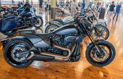 Nieuwe modellen van Harley Davidson Motorcycles in Motorclassica stock afbeeldingen