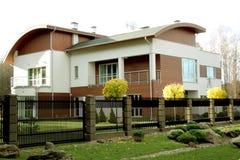 Nieuwe moderne huisarchitectuur Royalty-vrije Stock Foto