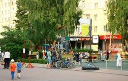 Nieuwe moderne speelplaats voor kinderen Royalty-vrije Stock Fotografie