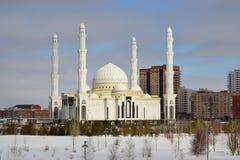 Nieuwe moskee in Astana Stock Fotografie
