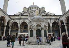 Nieuwe Moskee de binnenplaats en şadırvan van de moskee Royalty-vrije Stock Foto's