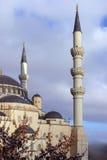 Nieuwe moskee in de stad (fragment). stock afbeelding