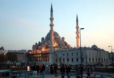 Nieuwe Moskee in Istanboel Stock Foto's