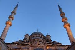 Nieuwe Moskee in Istanboel Turkije Royalty-vrije Stock Afbeeldingen
