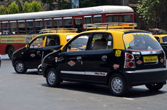 Nieuwe Mumbai-taxi Stock Foto's