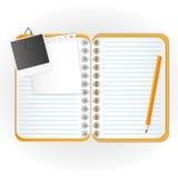Nieuwe notitieboekje en agenda Stock Afbeeldingen