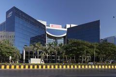 Nieuwe ontwikkeling op het Complexe die gebied van Bandra Kurla van Mumbai op m wordt geschoten Stock Foto's