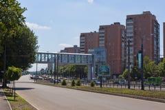 Nieuwe ontwikkelingen in het prospectus van Gagarin in Kharkiv Stock Afbeelding