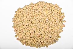 Nieuwe oogst groene linzen royalty-vrije stock afbeelding