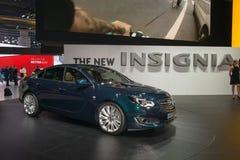 Nieuwe Opel-Insignes - wereldpremière Stock Foto's