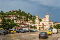 Nieuwe Orthodoxe Kathedraal van Berat in Albanië Stock Foto's