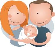 Nieuwe ouders Stock Afbeeldingen