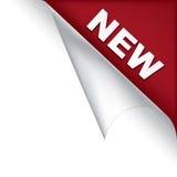 Nieuwe paginahoek vector illustratie