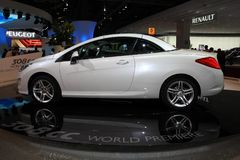 Nieuwe Peugeot 307 CC stock afbeelding