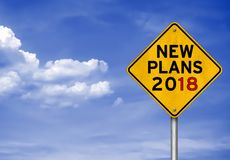 Nieuwe Plannen voor 2018 Royalty-vrije Stock Afbeelding