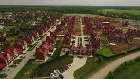 Nieuwe plattelandshuisjeregeling in een Britse stijlvideo stock videobeelden