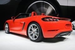 Nieuwe 2017 Porsche 718 de sportwagen van Boxster S Stock Foto's