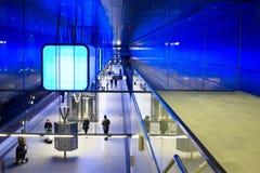 Nieuwe post Hafencity in Hamburg Stock Afbeelding