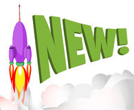 Nieuwe raket Royalty-vrije Stock Afbeeldingen