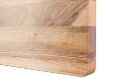 Nieuwe rechthoekige houten scherpe raad, hoogste mening Stock Fotografie