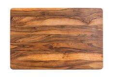 Nieuwe rechthoekige houten scherpe raad, hoogste mening Royalty-vrije Stock Foto's