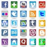 Nieuwe reeks de meeste populaire pictogrammen Stock Afbeeldingen
