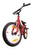 Nieuwe rode fiets op wit Royalty-vrije Stock Afbeelding