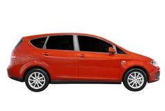 Nieuwe rode geïsoleerde caravanauto Royalty-vrije Stock Foto