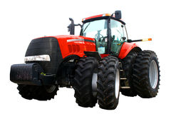 Nieuwe rode tractor Royalty-vrije Stock Afbeelding